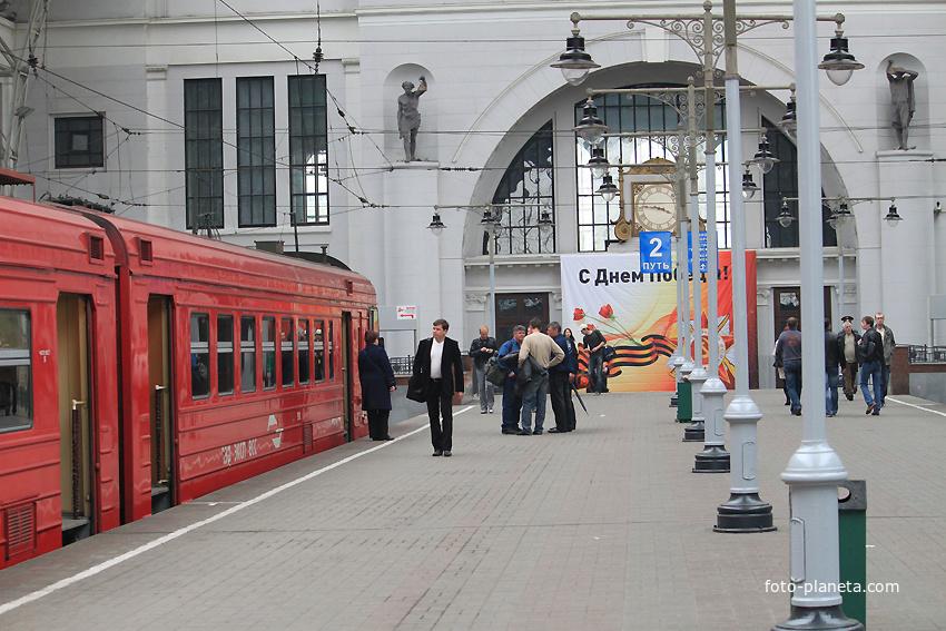 Платформа на Киевском вокзале Дорогомилово (Запад) Фото Планета.