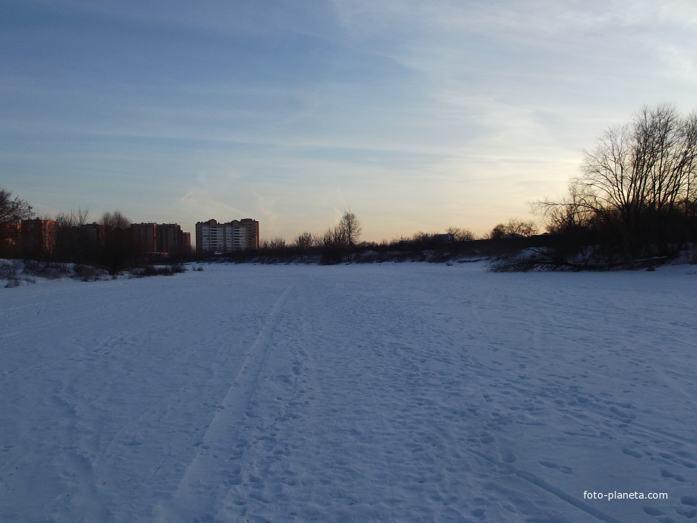 Замёрзшая речка Быковка | Жуковский (Московская область)