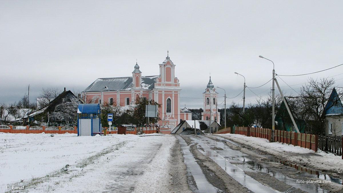Дорога со стороны д. Гольшаны