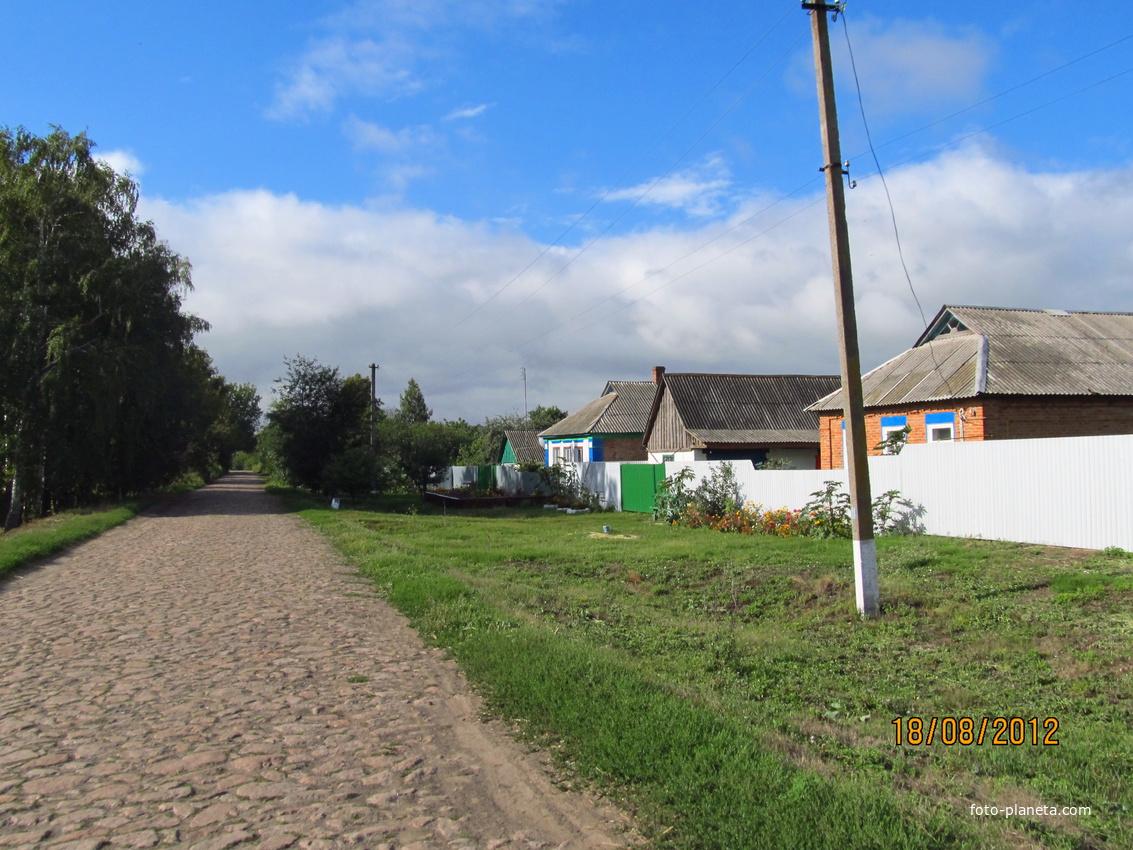 Первые дома у дороги