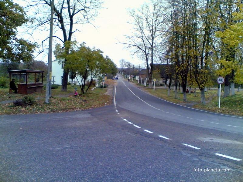 Центральная улица поселка | Новый Погост (Миорский район)