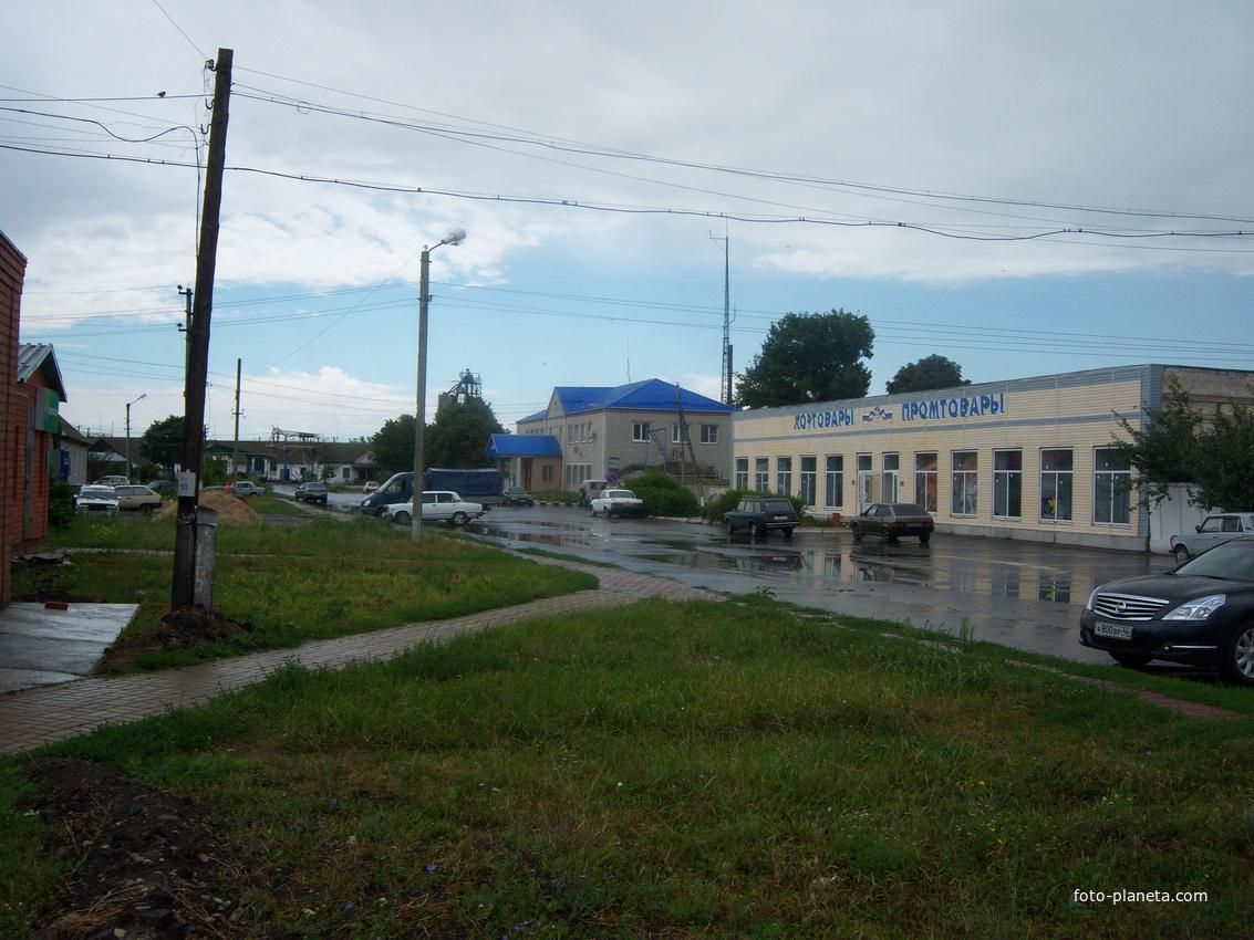 Центр поселка Солнцево Курской обл. Иль 2012 г.