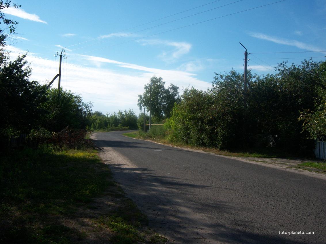 Выезд по ул. 2-я Пушкина по объездной дороге в село Никольское. Июль 2012 г.
