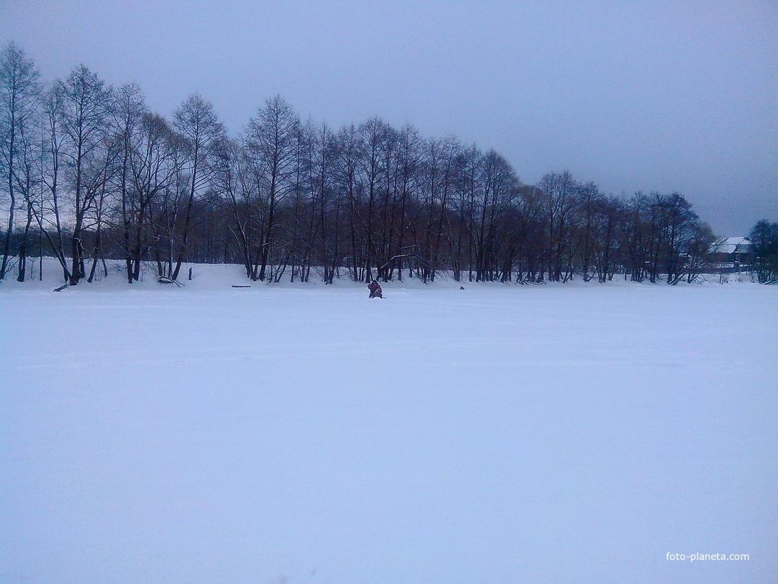 Зима. Пруд