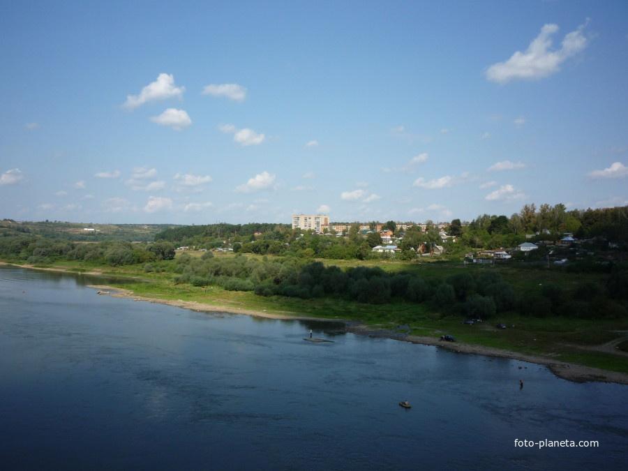 Река Ока и правобережная часть Алексина