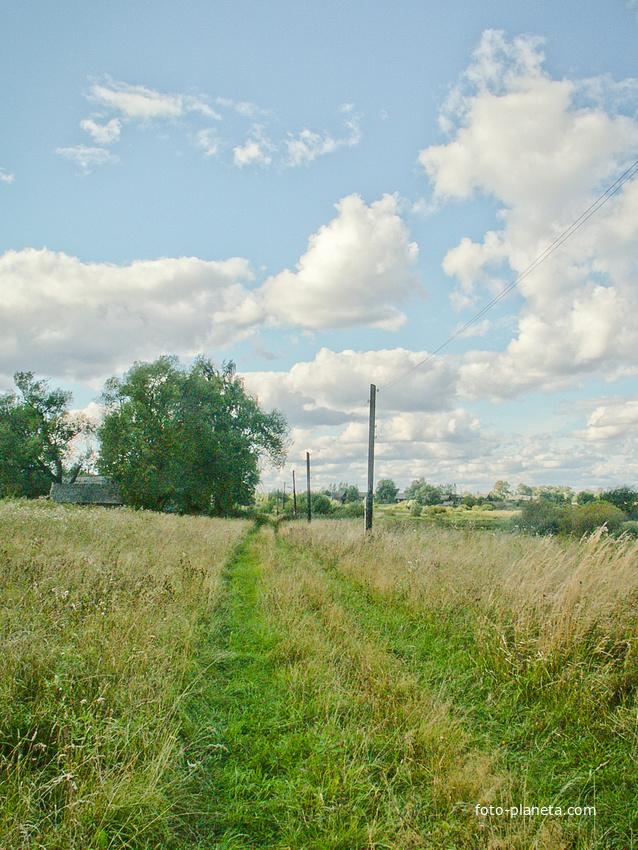 д. Симонов Городок вдоль деревни 2007 г.