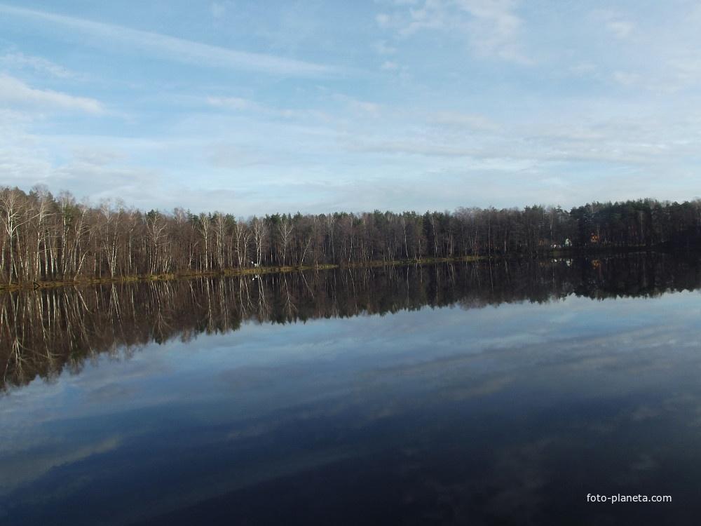 рыбалка на озере срамное