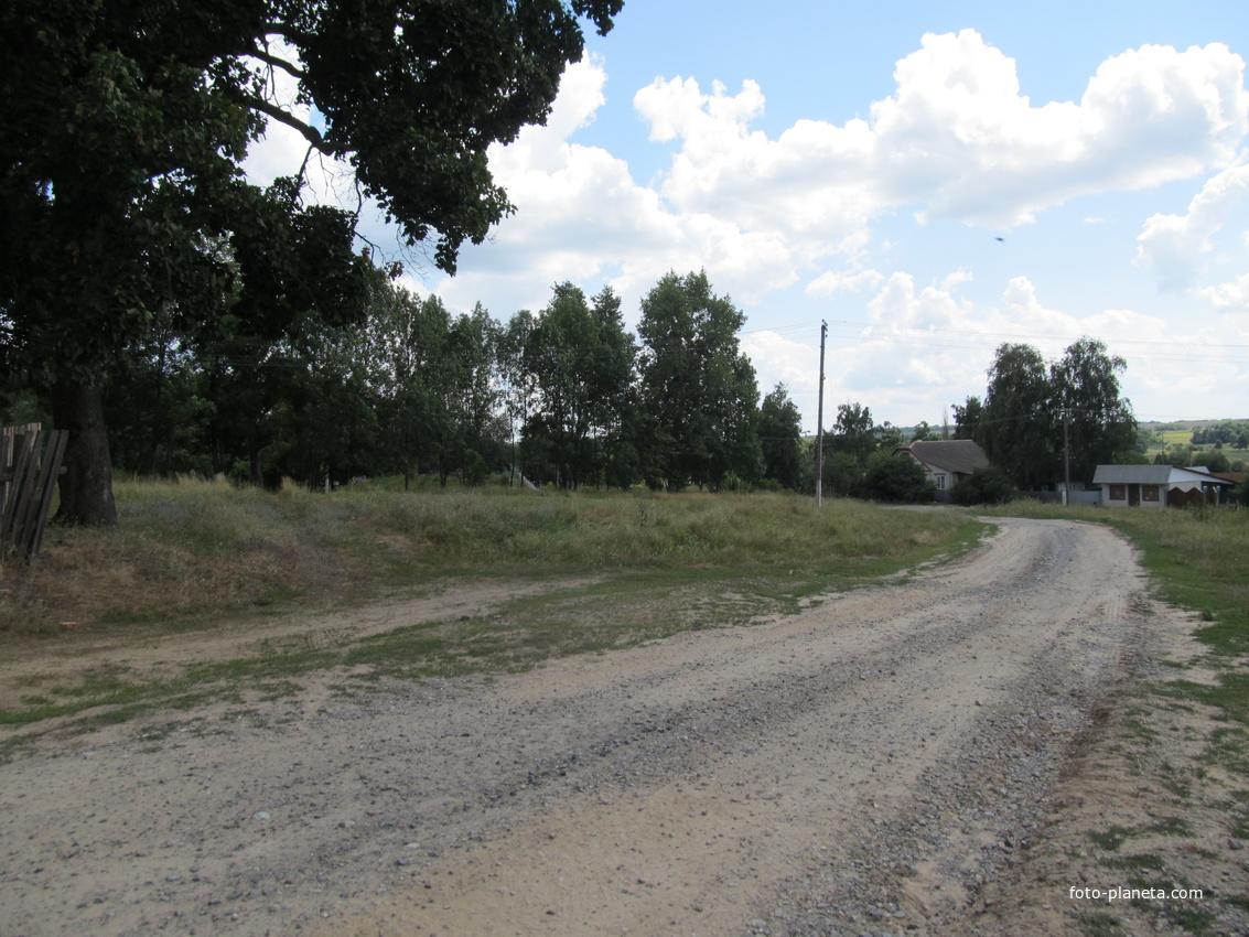 Съезд от церкви к дороге