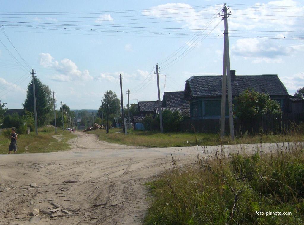 Песочная улица моего посёлка