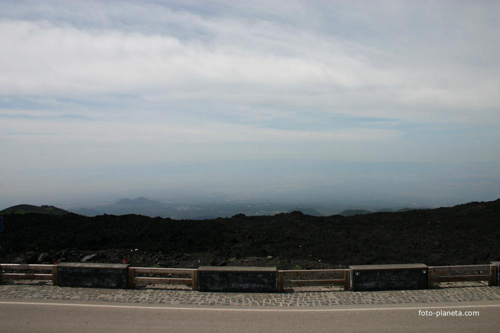 Этна. Вид на Катанию