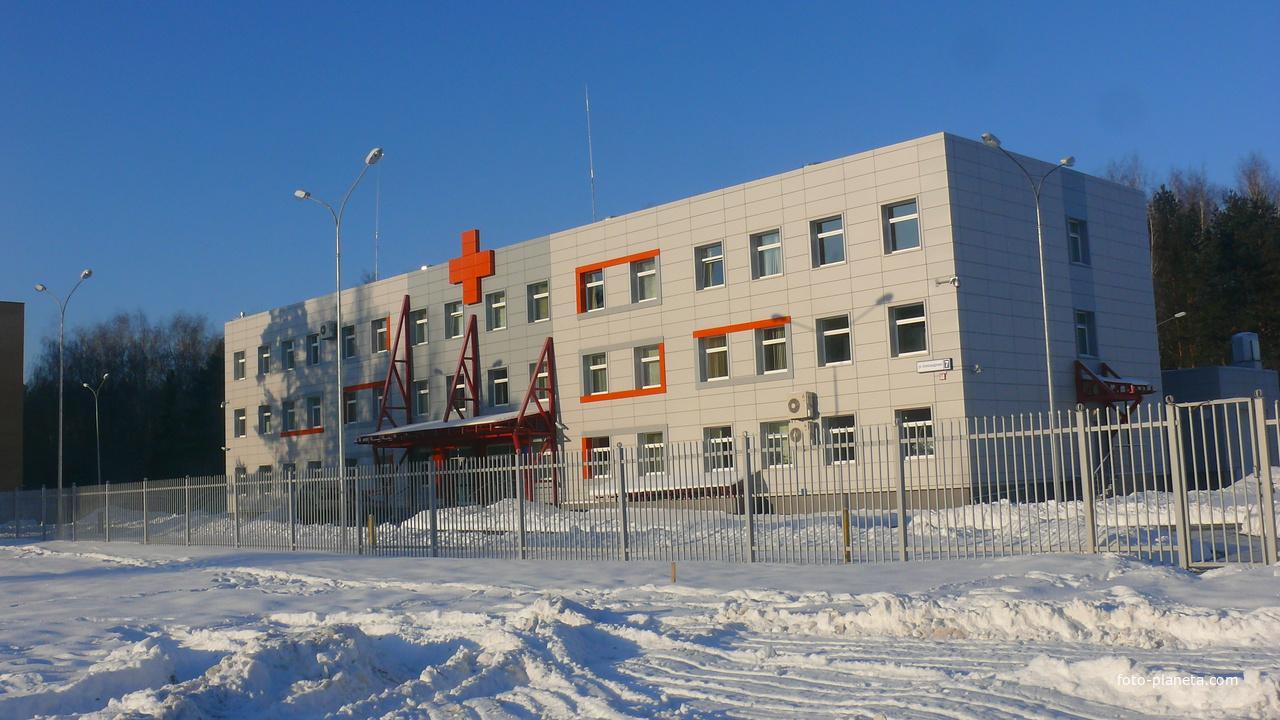 Станция скорой помощи в 14-ом микрорайоне.