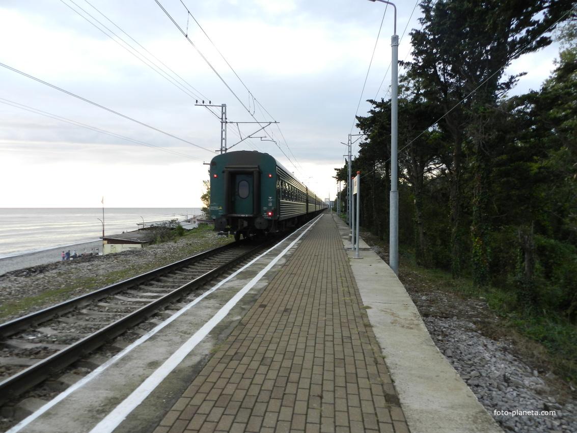 Поезд 202С Адлер-Москва с платформы Аше