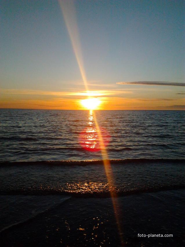 Закат.Белое море.