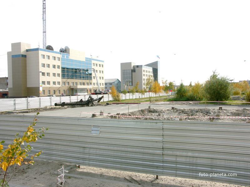 ДК Нефтянник, начало стройки в сентябре 2006г.