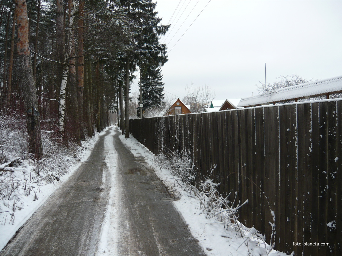 Дорога у детского санатория.