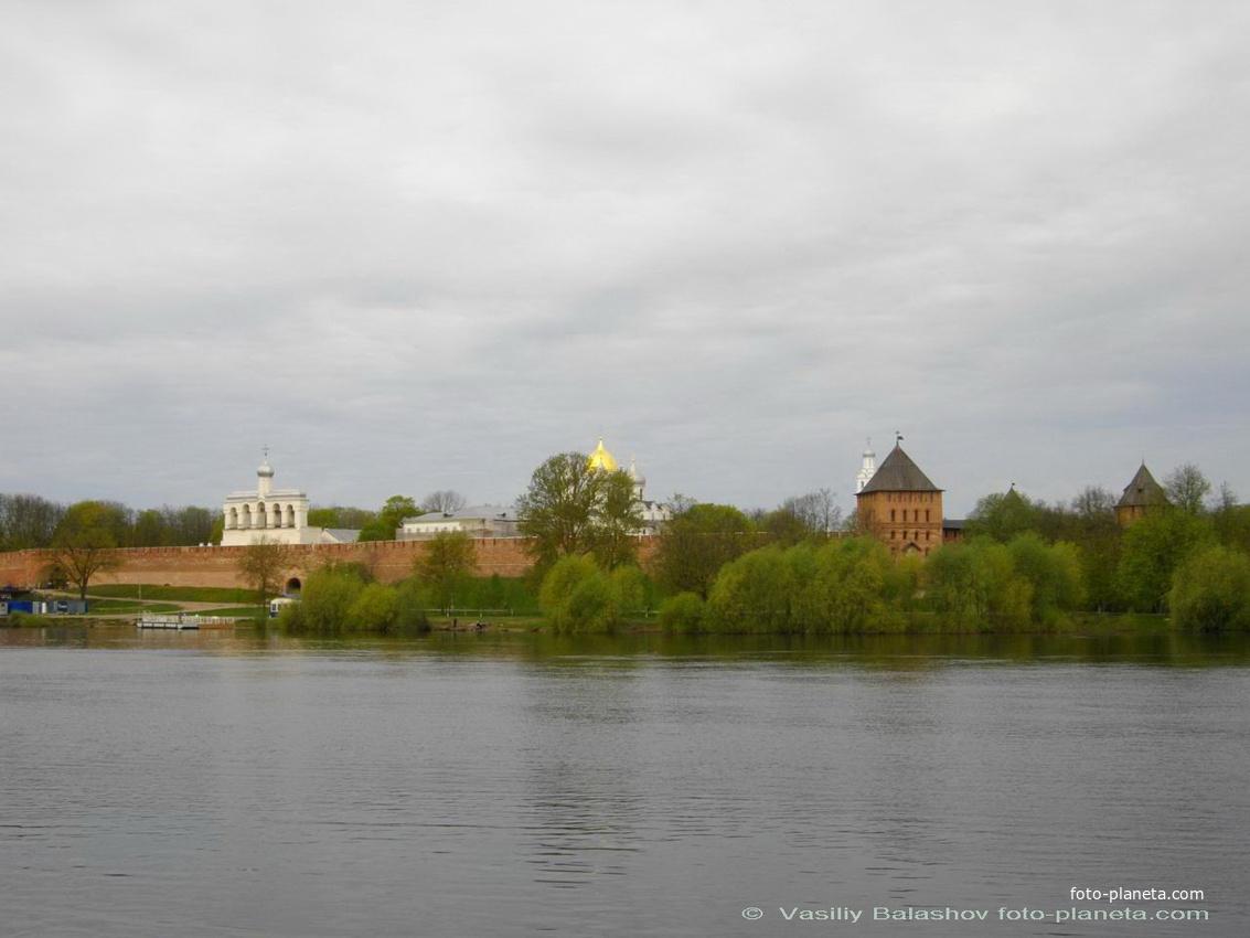 Новгород. Кремль, панорама Софийского собора