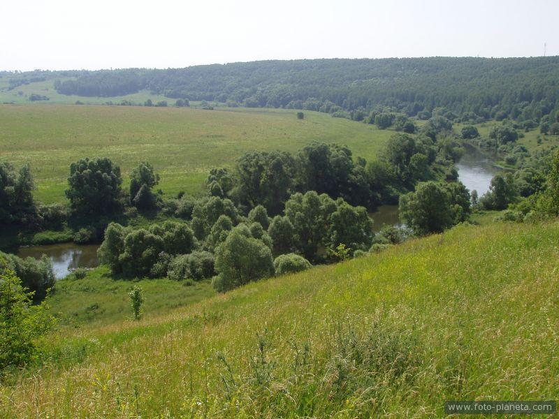 изгиб реки Упа