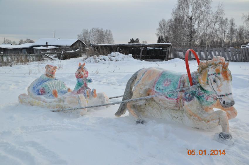 Тусказань, снежная фигурка