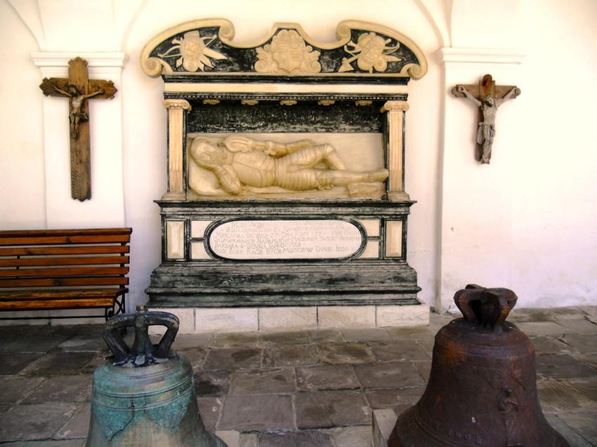 A copy of the tomb of Alexander Vanka Lahodovskoho the Holy Assumption Univ Lavra