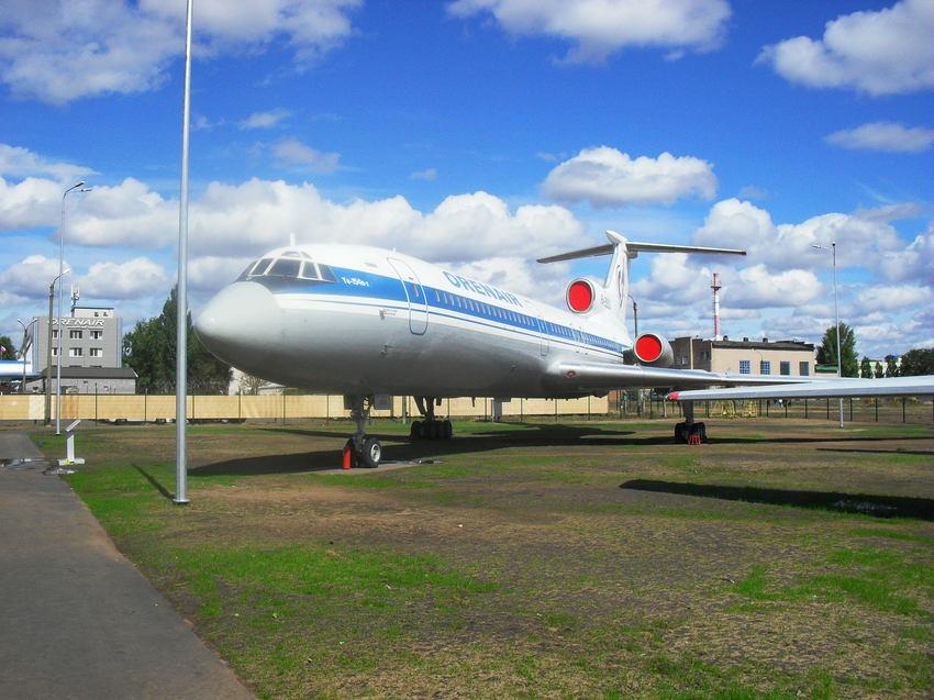 самолёт ТУ-154 Б в музее гражданской авиации