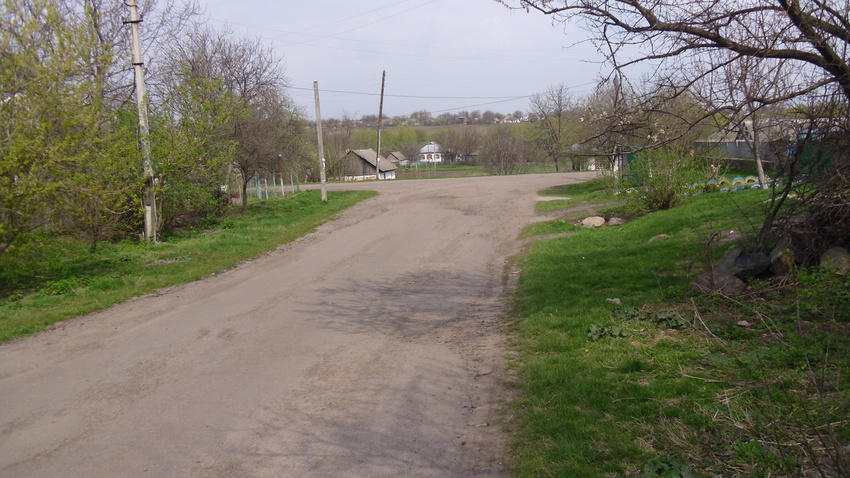 Спуск в село