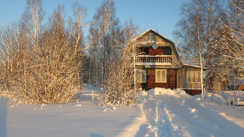 Зимой в щипцово. | Пошехонский район