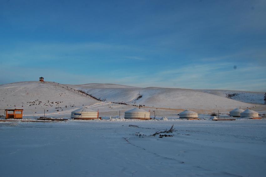 Зима в Степном кочевнике
