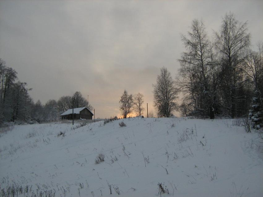 Зимний закат в Щипцово | Пошехонский район