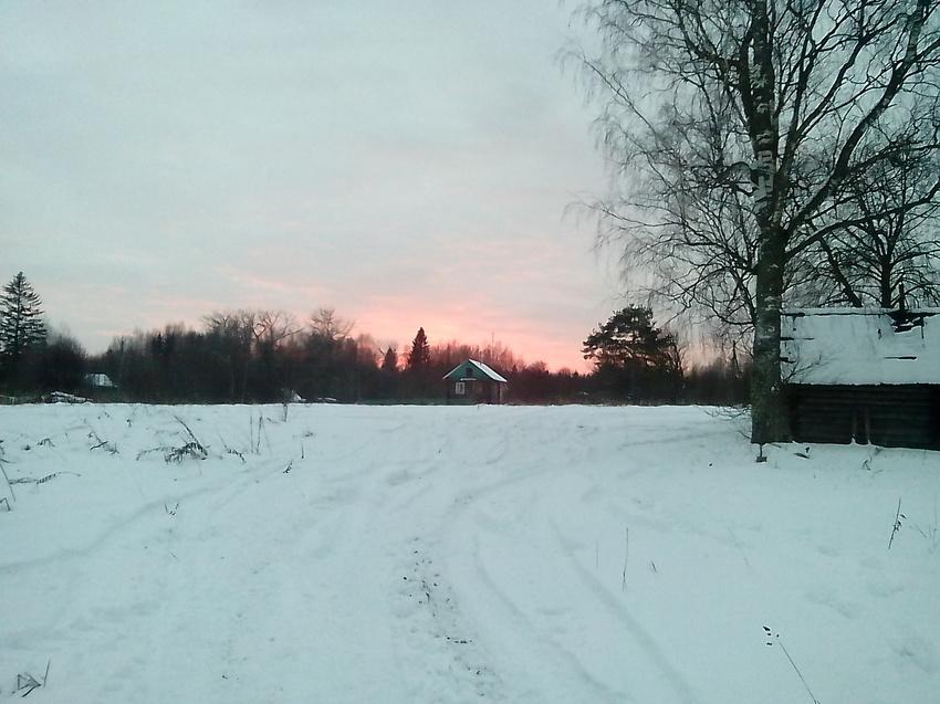 Зимний закат в Щипцово.