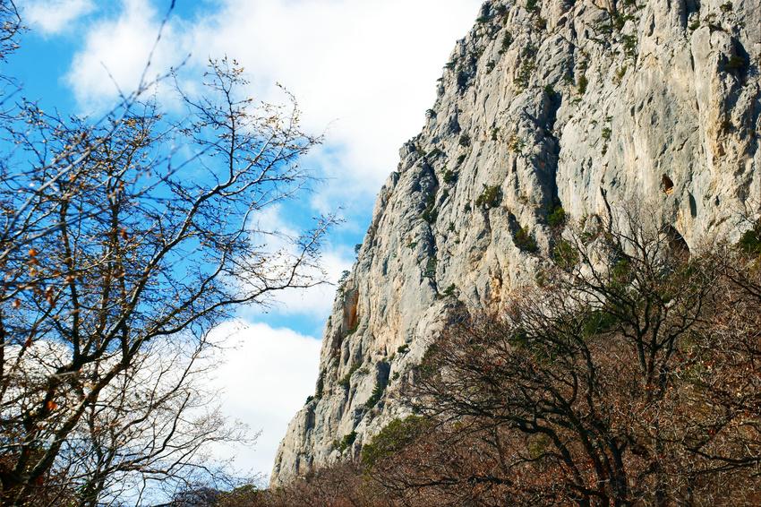 Крымские скалы. Старое Севастопольское шоссе в районе Санаторное