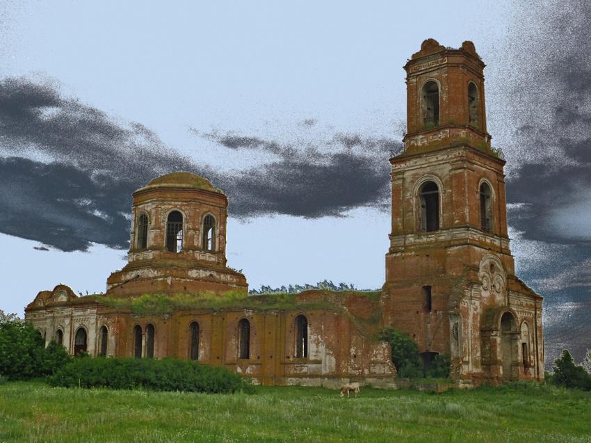 Церковь Казанской иконы Божией Матери. 5 июля 2004 года
