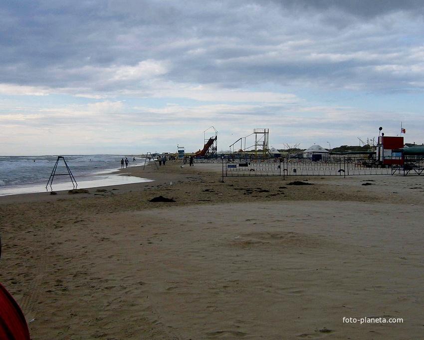 Пляж в середине сентября. 13.09.2007г. 16:08