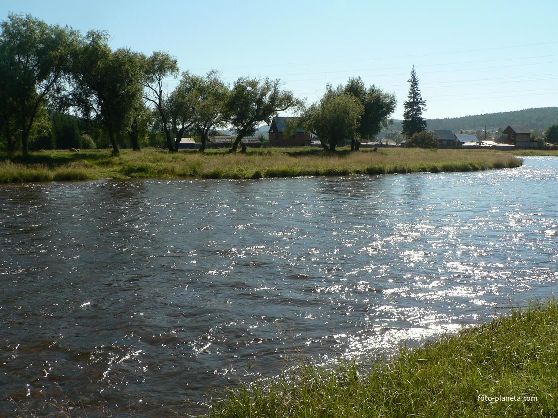 Большой Луг.Река Олха.