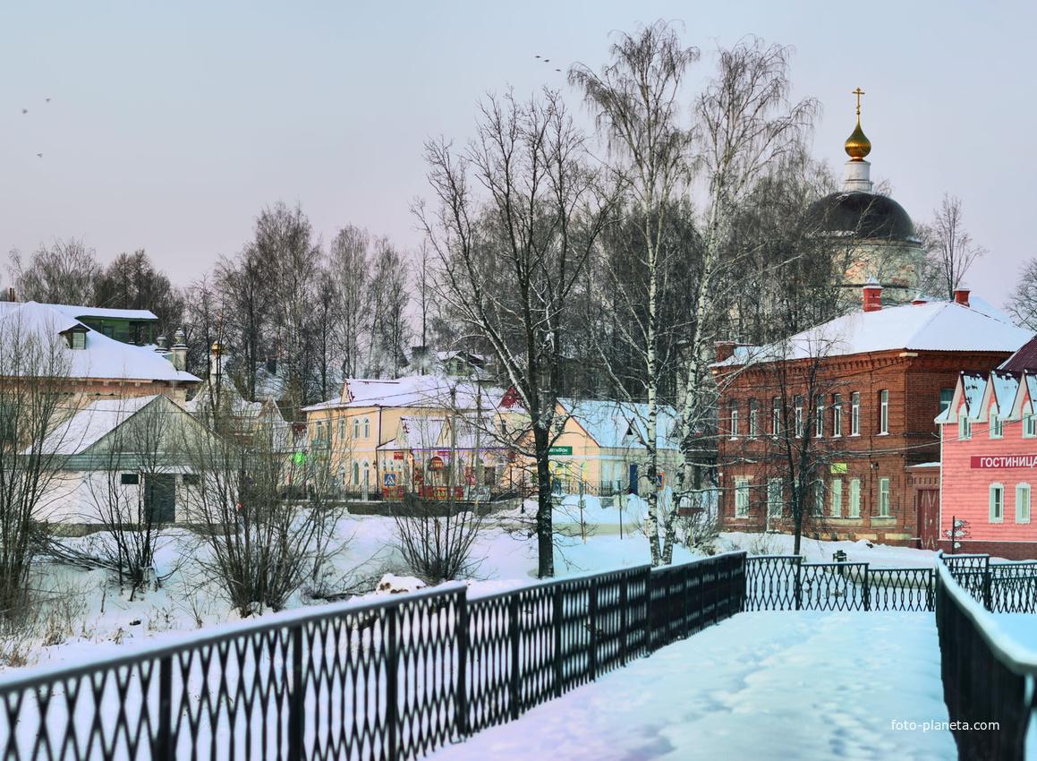 Город Мышкин. Рождественское утро