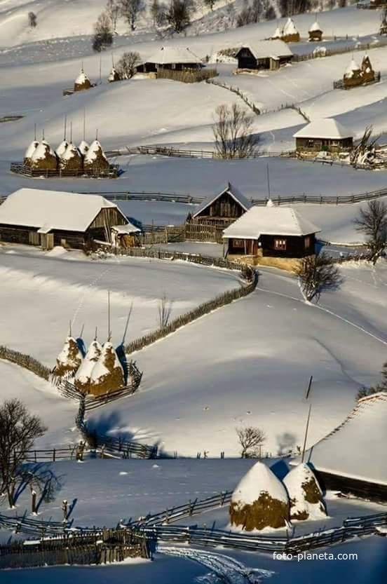 Село під білою ковдрою | Вишнев (Рогатинский район)