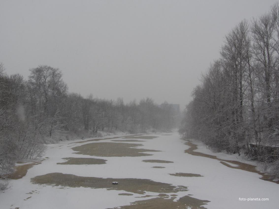 Ириновский проспект. Река Охта