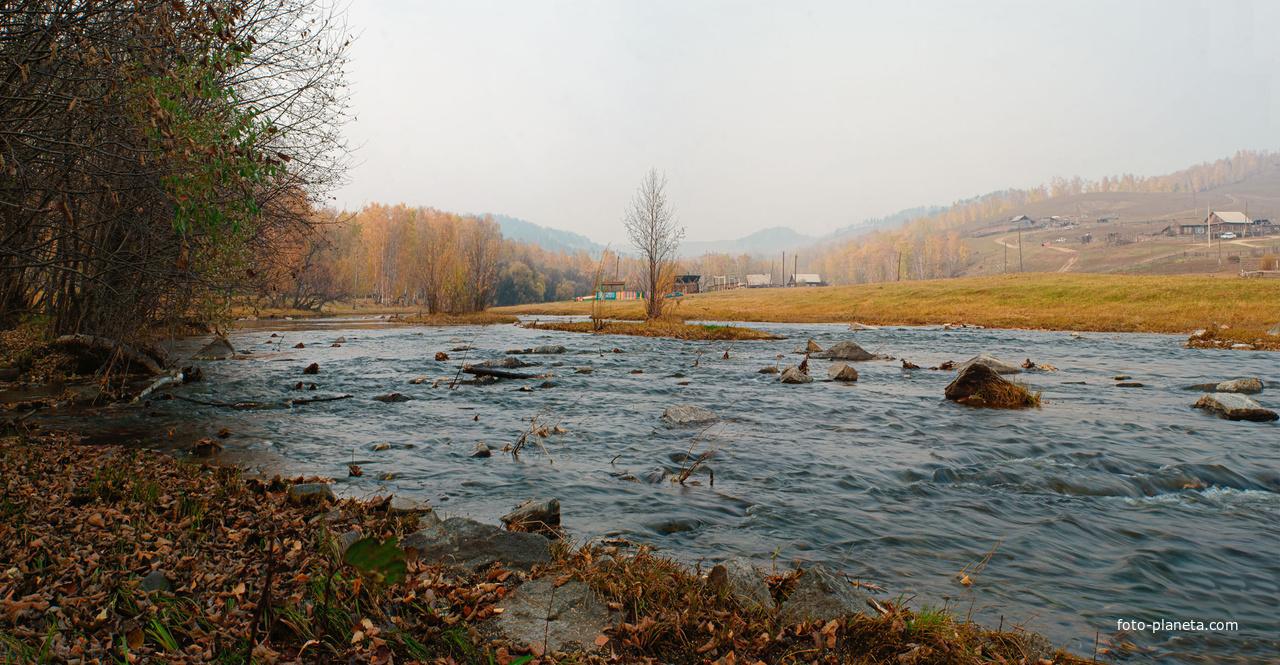 Село Средняя Кия. Река Кия | Шилкинский район
