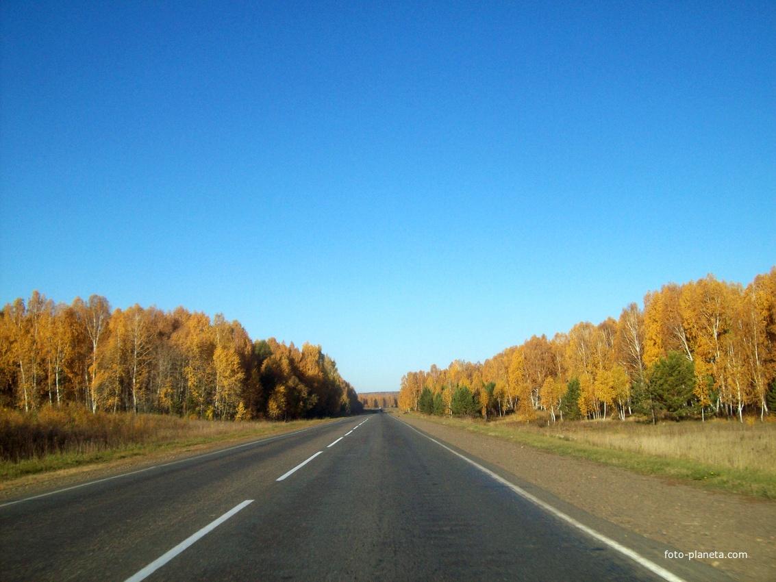 Дорога Р-255 Сибирь, конец Иркутской области