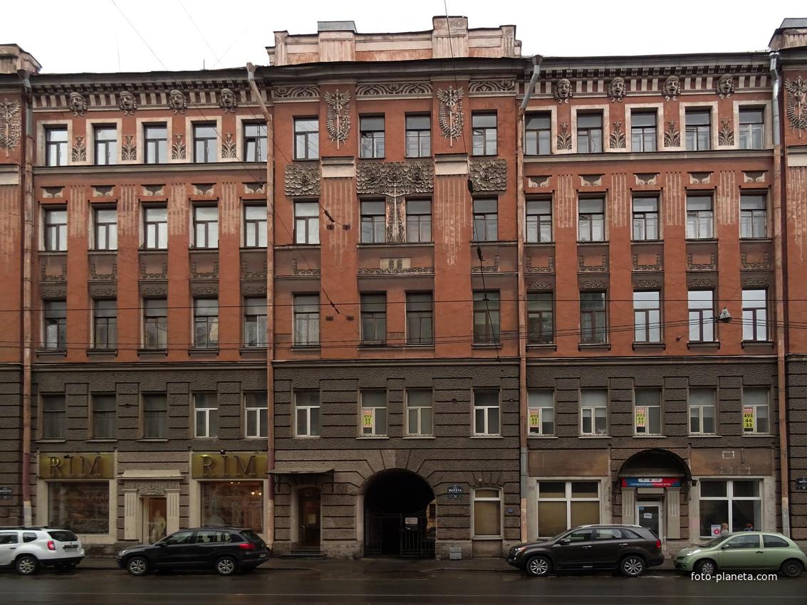 Улица Марата, 31. Дом Барышникова