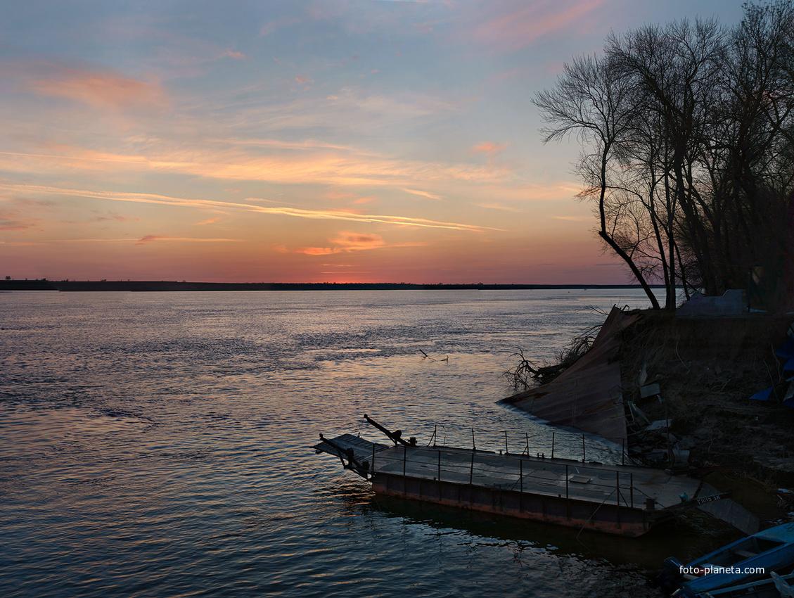 Закат на Волге | Цаган Аман (Юстинский район)