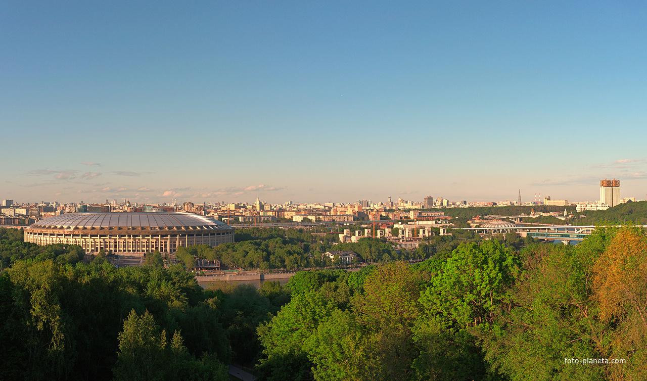 Вид на Москву с Воробьёвых гор | Ленинские, Воробьёвы Горы