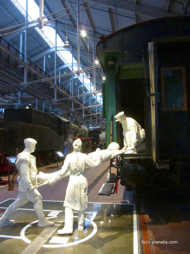 Музей железных дорог России. Створный угол. Погрузка раненого