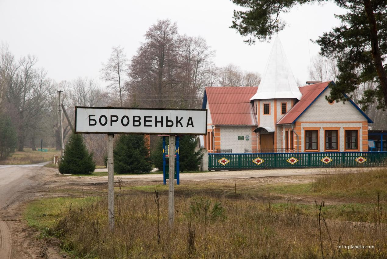 Въезд в Боровеньку