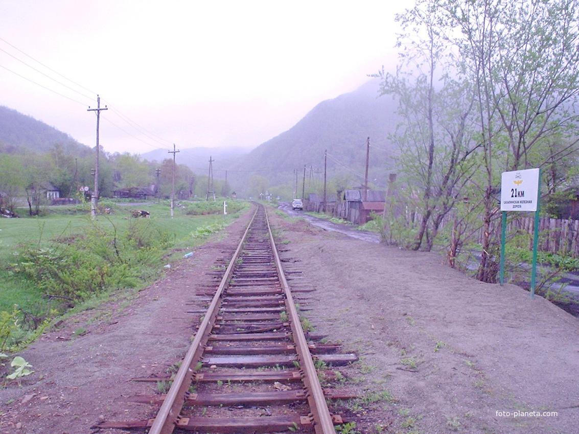 Быков, платформа 21 километр