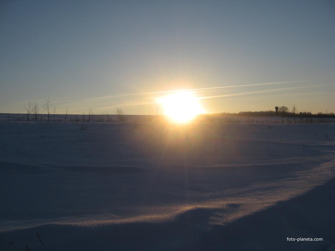 Зима д. Хвощевка