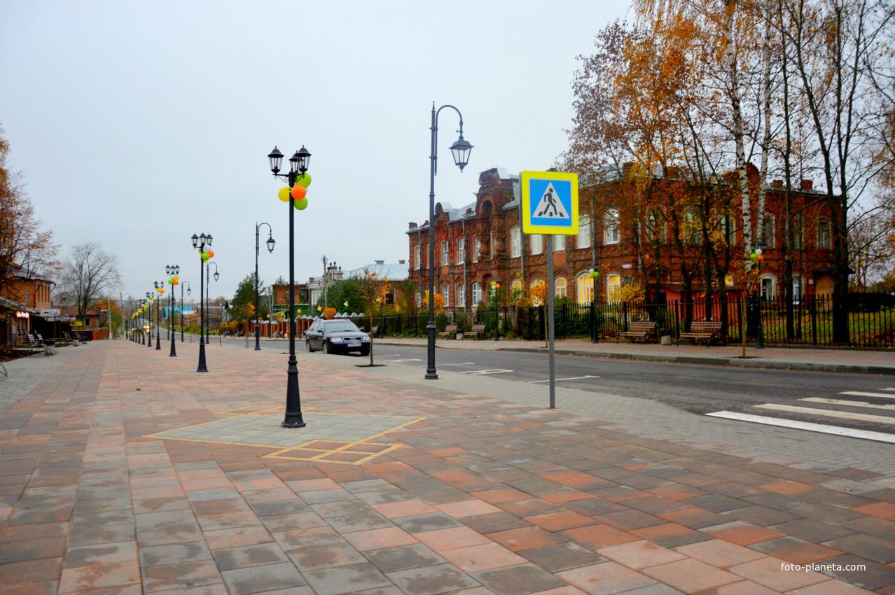 Талдом.Пешеходная зона.Фото Галина Асабина.