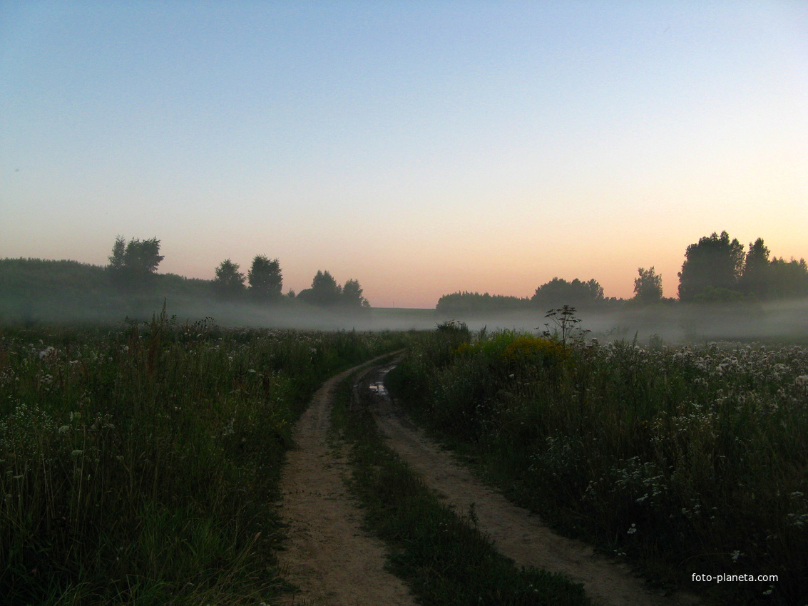 Туман. | Руднево (Мценский район)