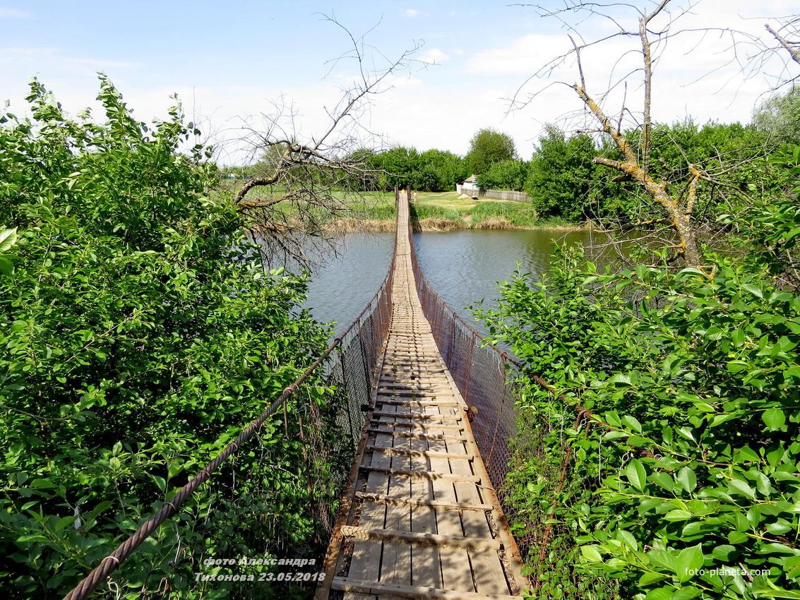 На реке Аксинец- канатный мост | Тормосин (Чернышковский район)