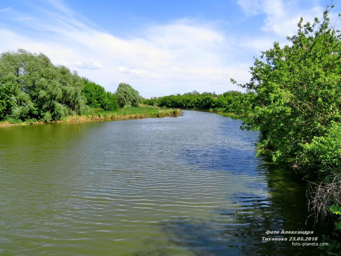 река Аксинец в Тормосине | Чернышковский район